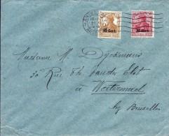 LE 0166 ETAPES Oc 29-30 Obl. Méc. ANTWERPEN 1 - 21.XI.1918 S/L. V.Watermael.Emploi Des ETAPES à ANVERS APRES LA GUERRE.R - Army: German