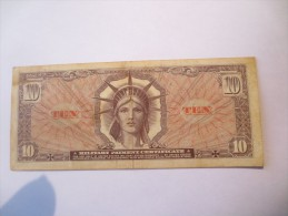 MILITARY PAYMENT CERTIFICATE 10 DOLLARS TTB - VOIR PHOTOS - Military Payment Certificates (1946-1973)