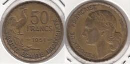 Francia 50 Francs 1951b Km#918.2 - Used - M. 50 Franchi