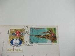 STORIA POSTALE FRANCOBOLLO COMMEMORATIVO NEPAL  MT. AMA DABLAM COURTESY DEPT. OF TOURISM HMG. - Nepal