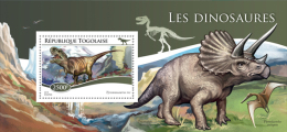 TOGO 2015 - Dinosaurs S/S. Official Issue - Prehistorisch