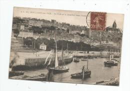 Cp , 62 , BOULOGNE SUR MER , Le Port Et Le Quartier SAINT PIERRE , Voyagée 1921 - Boulogne Sur Mer