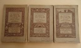 Lot 3 Volumes - Albano SORBELLI - STORIA D'ITALIA Ad Uso Delle Scuole Tecniche -1916- Editore Nicola Zanichelli Bologna - Livres, BD, Revues