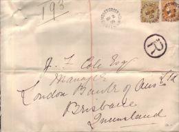AUSTRALIA -ELSTERNWICK - BRISBANE 1909 REG. MONEY ORDER - Postmark Collection