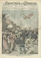 Domenica Corriere 20 1920 - Volo Roma Tokio,Ten.Ferrarin - California,Gara Con Struzzi - Ante 1900