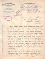 DOUBS - MORTEAU - JUDAÏCA ?? - HORLOGERIE - CHARLES WETZEL , WETZEL & COLLOT , EMILE WETZEL & CIE SRS - LETTRE - 1909 - 1900 – 1949