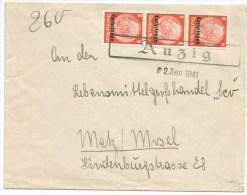 R833 - ANZIG - 1941 - ANCY SUR MOSELLE - Tarif Double Port - - - Alsace Lorraine