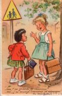 """Cpa Illustre Et Signee """" Germaine Bouret """" Belle Carte Lire Texte Sur Scan...1954 - Bouret, Germaine"""
