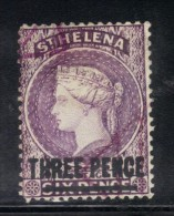 W401 - ST. HELENA 1884/94, 3d  Usato  Senza Filigrana - Isola Di Sant'Elena