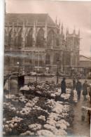 """Caen 14, Veritable Photo  De """" Delassalle """" Marche Au Fleur Boulevard St-pierre - Caen"""