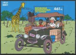 BL205 - Congo  2001 - Emission Commune Avec La Belgique, Avec Obl De L'émission - Bandes Dessinées