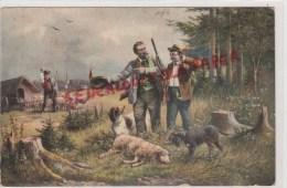CHASSE - BELLE CARTE - CHASSE BREBIS - MOUTON -CHATEAU DES TILLEULS  DAMPIERRE 49- ECRITE PAR MME DE FURSAC 1910 - Cartes Postales