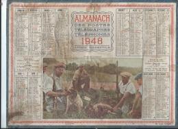 Calendrier/Almanach Postes -Télégraphes-Téléphones /Repos De Chasseurs/OLLER /Puteaux/ 1948    CAL191 - Grand Format : 1941-60