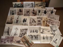 Beau Lot De 30 Cpa Sur Le Theme Des Baigneuses En Mer , Toutes Scannees - Cartes Postales