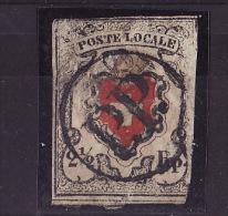 """1850   No. 14I    Timbre Cantonal  """" Poste Locale """"   Croix Encadrée (très Abimé) - 1843-1852 Timbres Cantonaux Et  Fédéraux"""