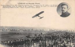 VEDRINES  Sur Monoplan MORANE (survolant La Foule ) - Aviatori
