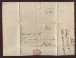 "PORTUGAL ""ABRANTES-LISBON"" 1849 ENTIRE - Portugal"