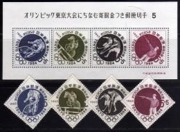 1963 - Japon - JJOO. De Tokyo - HB B27a - Sc. B24-B27 - Serie 05 - MNH - Ete 1964: Tokyo