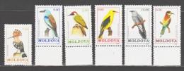 Moldova 1992 Moldawien Mi 14-19 Birds / Vögel **/ MNH - Oiseaux