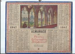 Calendrier/Almanach  Postes-Télégraphes-Téléphones/COLMAR/Musée  Cloître Unterlinden/1947   CAL194 - Big : 1941-60