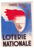 """Petit Carton Loterie Nationale """"tentez Votre Chance"""" Signé Illisible (PPP021) - Pubblicitari"""