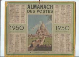 XCalendrier/Almanach Des Postes/Le Sacré-Coeur De Montmartre/Oberthur/1950   CAL196 - Big : 1941-60