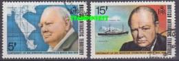 British Antarctic Territory 1974 Winston Churchill 2v Used (22213A) - Brits Antarctisch Territorium  (BAT)