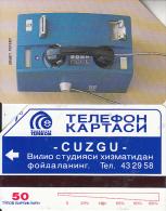 UZBEKISTAN(Urmet) - Urmet Cardphone(thin Band), Uzbekiston Telecom, Tirage %15000, Used - Uzbekistan