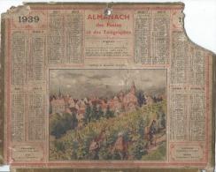 Calendrier/Almanach Des Postes Et Des Télégraphes/Vignerons De Riquewihr (Haut-Rhin)/Oberthur/1939  CAL197 - Big : 1921-40