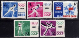 1964 - Rusia - JJOO.  De Insbruck - 2772-2776 - MNH - Summer 1964: Tokyo