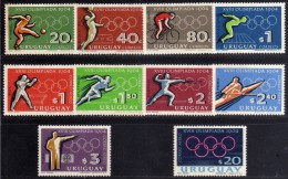 1964 - Uruguay - JJOO. De Tokyo - Sc. 722-25 - C276-81 - MNH - Summer 1964: Tokyo