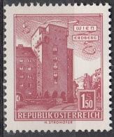 Austria, 1957/61 - 1,50s Rabenhof Building, Erdberg - Nr.623 MNH** - 1945-.... 2a Repubblica