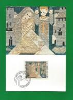 Liechtenstein  1979 , Weihnachten - Stickereien - Verkündigung - Ausgabe Vaduz  6.Dezember 1979 - Textil