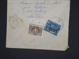 POLOGNE-Enveloppe Pour La France       Jolie Oblitération En Bleu Au Verso   En 1924    à Voir  P6021 - 1919-1939 Republik