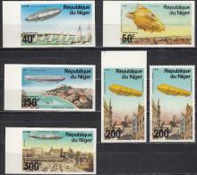 Niger, 1976 - Zeppelin, Prove Di Stampa - Nr.C273/C277 MNH** - Niger (1960-...)