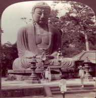 Photo Stéréoscopique - Japon - Colossal Buddha. Kamakura - - Photos Stéréoscopiques