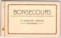 Carnet 10 Cpa : Bonsecours ( Belgique, Tramway, La Drève, Basilique, ...) - Belgique