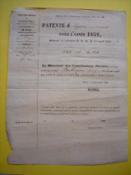 Patente D´épicerie En Détail 1859 Molières Gard à Mr Parlongue Henri - 1800 – 1899