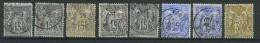 VEND BEAU LOT DE TIMBRES AU TYPE SAGE AVEC OBLITERATIONS BUREAUX DE QUARTIERS DE PARIS 1876 - 1877 !!!! - 1877-1920: Periodo Semi Moderne