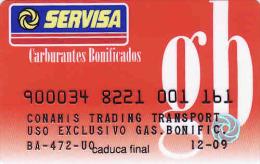 Spain Transport Servisa Card-magnetic + Carte D'essence, Carburantes Bonificados, Gas.bonific. Conamis Trading Transport - Moteurs
