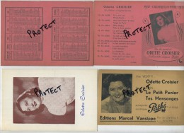Binche ; Odette Croisier ( Cinéma ) Calendrier 1957 De Poche ( 3 Items ) - Calendriers