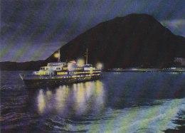 Japan - Beppu - Port W Ship At Night Old Postcard - Japan