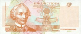 Transnistria  1 Ruble  2000 Pick 34 UNC - Bankbiljetten