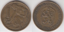 CECOSLOVACCHIA 1 Koruna 1969 KM#50 - Used - Cecoslovacchia