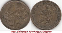 CECOSLOVACCHIA 1 Koruna 1970 KM#50 - Used - Cecoslovacchia