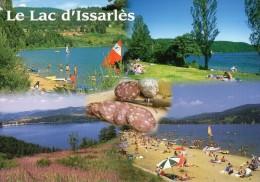 07 Le Lac D'Issarlès - Charcuterie, Tranches De Saucisson, Couteau Opinel, Vues Du Lac - 7200 - Editions PIGNOL - Neuve - Recipes (cooking)