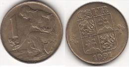 CECOSLOVACCHIA 1 Koruna 1991 KM#151 - Used - Cecoslovacchia