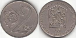 CECOSLOVACCHIA 2 Korun 1972 KM#75 - Used - Cecoslovacchia