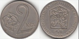 CECOSLOVACCHIA 2 Korun 1974 KM#75 - Used - Cecoslovacchia
