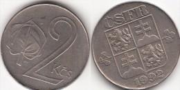 CECOSLOVACCHIA 2 Korun 1992 KM#148 - Used - Tchécoslovaquie